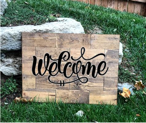 Welcome Wood Sign With Texas In It Clipart